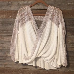 Free people boho shirt small